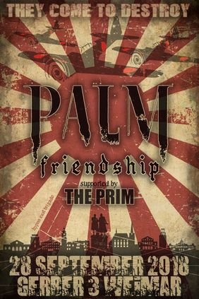 konzert Plakat für Palm & Friendshio & The Prim
